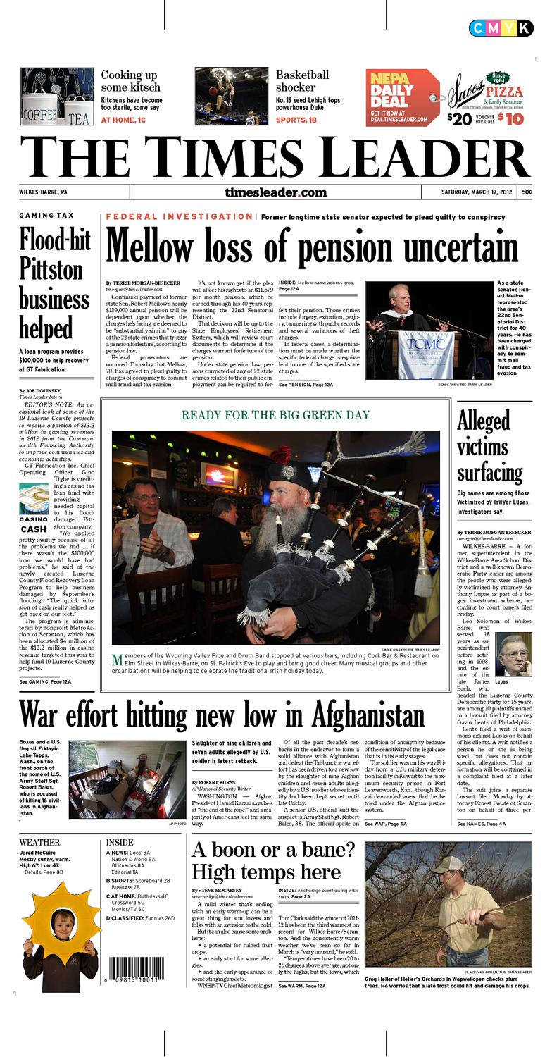 Times Leader 03-17-2012 by The Wilkes-Barre Publishing Company - issuu