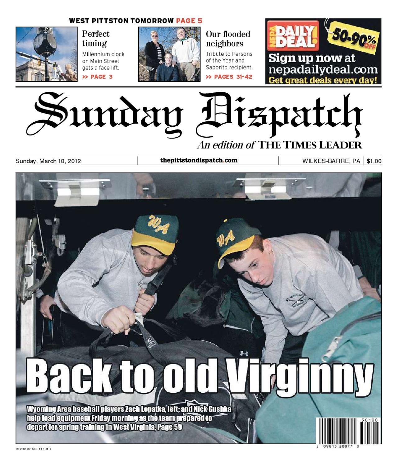 online retailer 6aee4 8661c The Pittston Dispatch 03-18-2012 by The Wilkes-Barre Publishing Company -  issuu