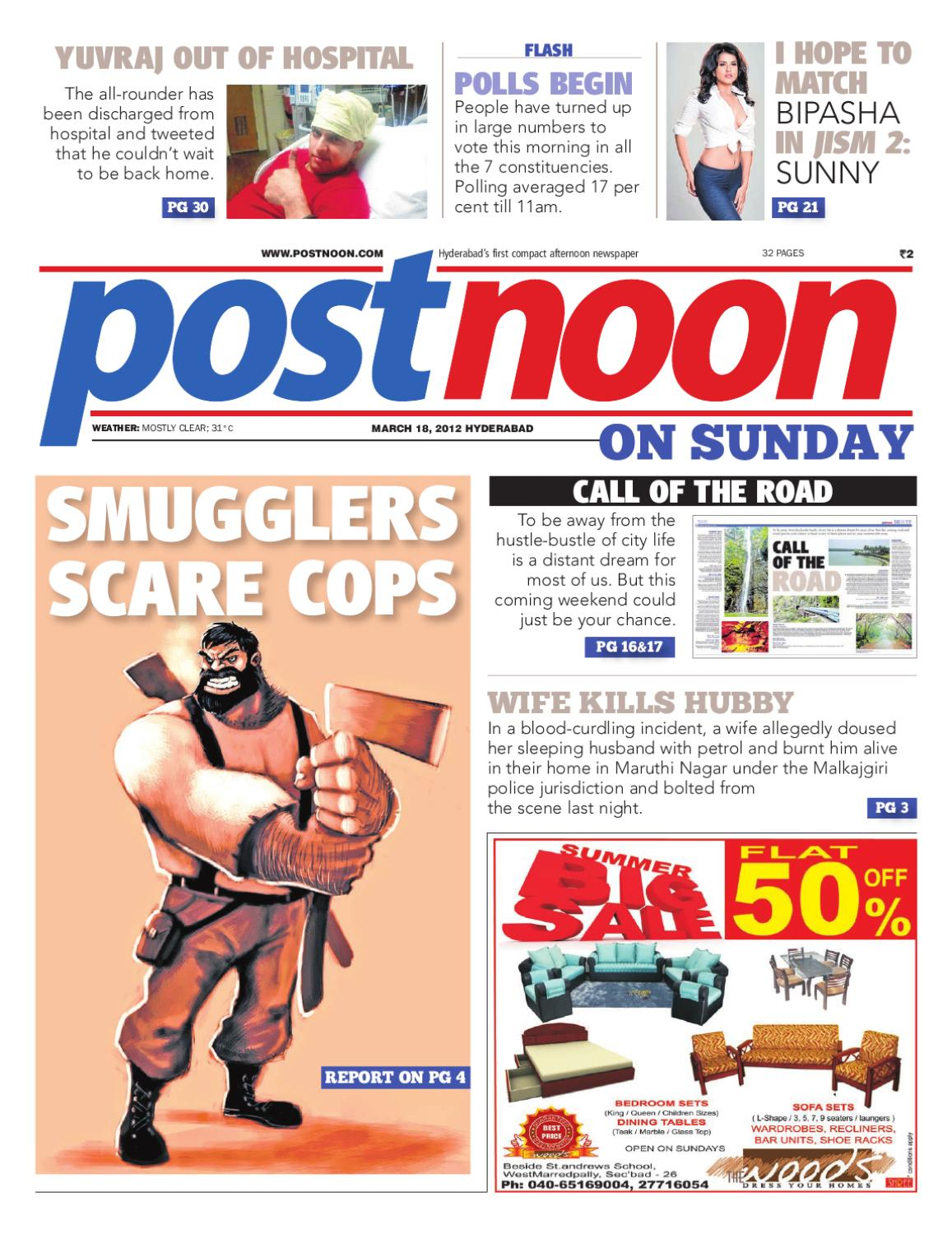 Postnoon E-Paper for 18 March 2012 by Scribble Media & Entertainment