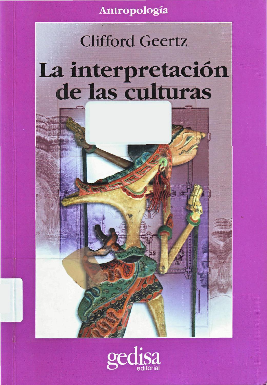 La interpretación de las culturas - Geertz, Clifford by Bibliocepa ...
