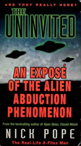 Nick Pope The Uninvited An Expose Of The Alien Abduction