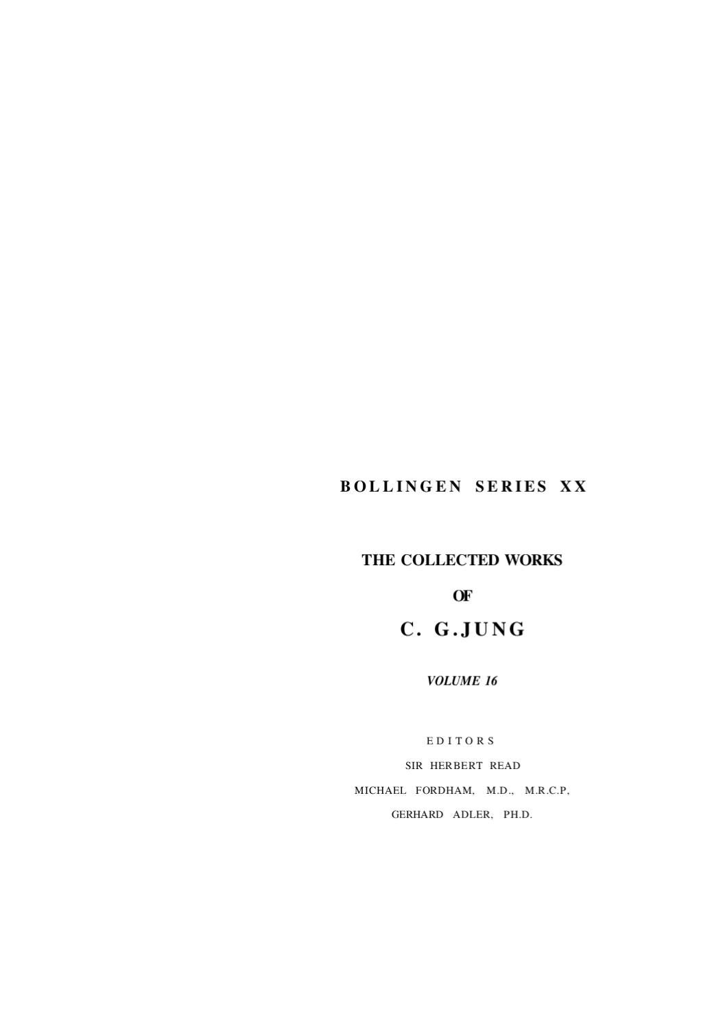 C g jung the practise of psychoterapy by horvath lajos issuu malvernweather Images