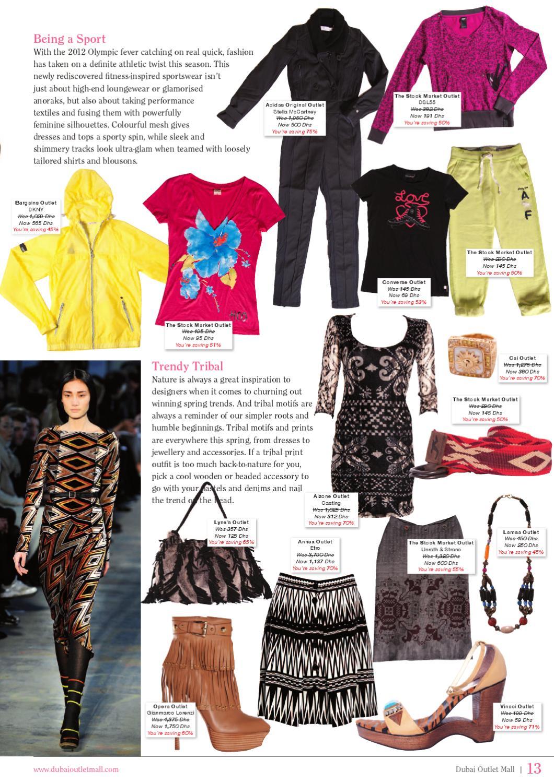 laadukkaita tuotteita halpa outlet putiikki April 2012 Dubai Outlet Mall magazine
