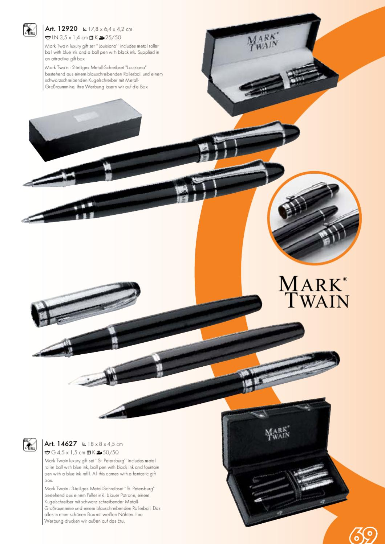 Mark Twain Schreibset San Antonio mit Füllfederhalter /& Drehkugelschreiber