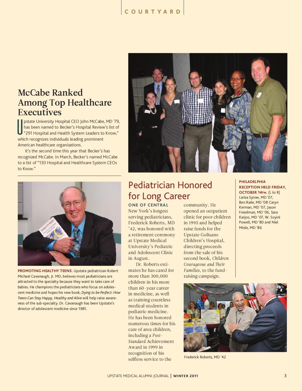 Upstate Medical Alumni Journal by Kiefer Creative - issuu