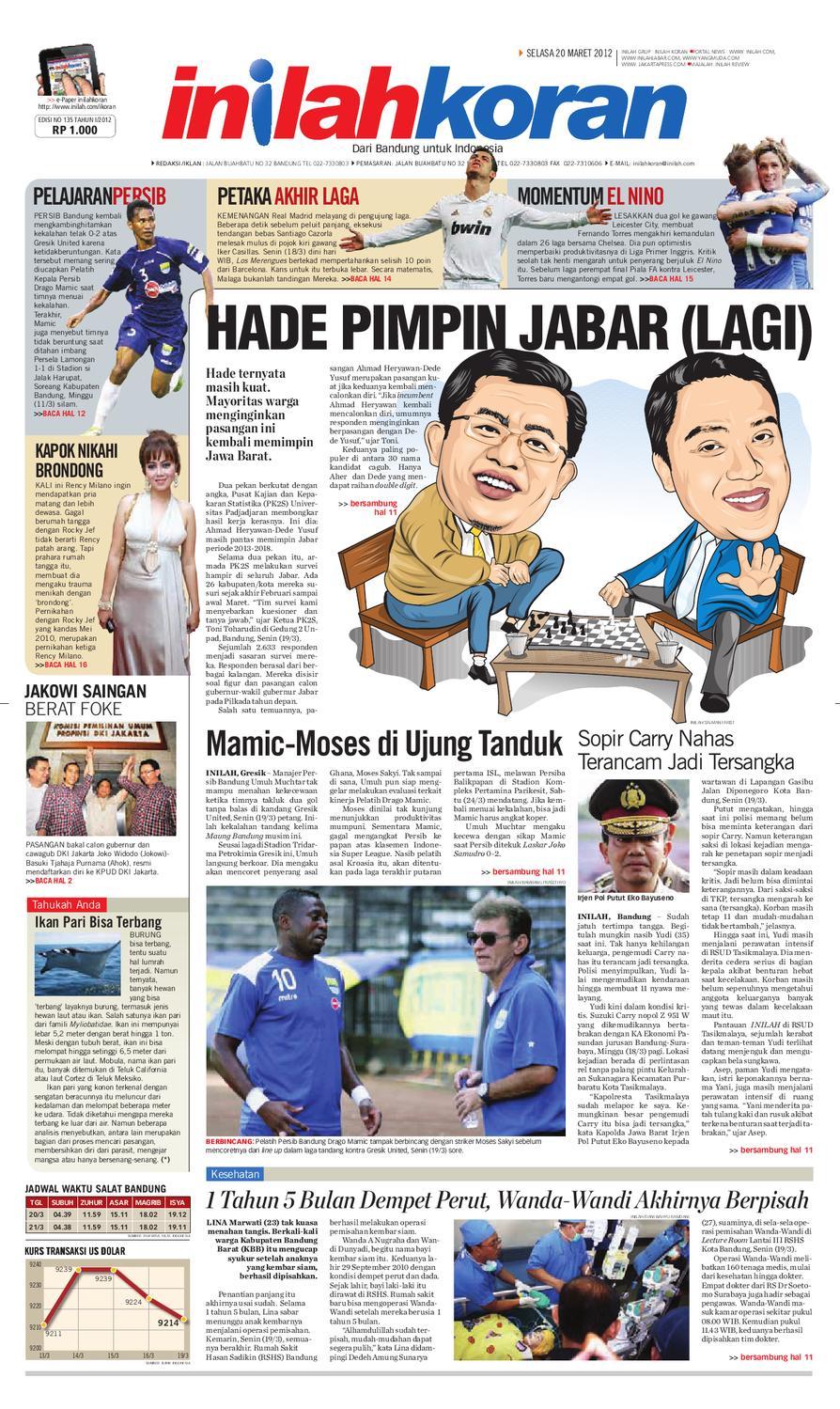 HADE PIMPIN JABAR LAGI By Inilah Koran Issuu