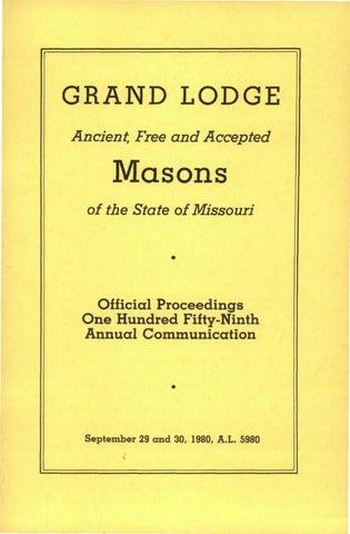 ff618076ab 1980 Proceedings - Grand Lodge of Missouri by Missouri Freemasons ...