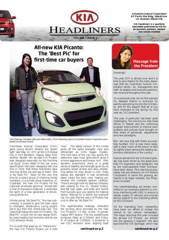Kia Headliners Volume 1 Issue 1 By Kia Motors Philippines Issuu