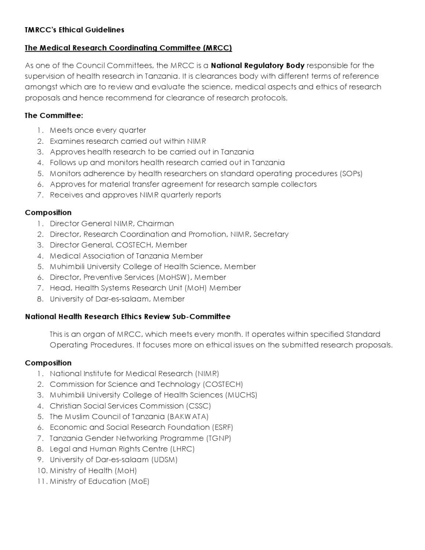 research proposal udsm