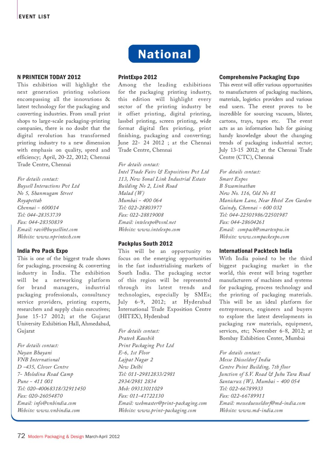 Modern Packaging & Design - March-April 2012 by Infomedia18