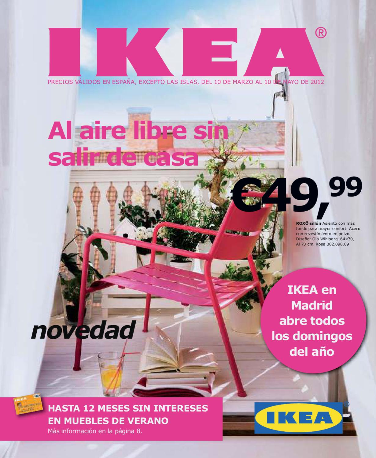 Catalogo ikea de muebles de terraza y jard n 2012 by for Catalogo jardin ikea 2015