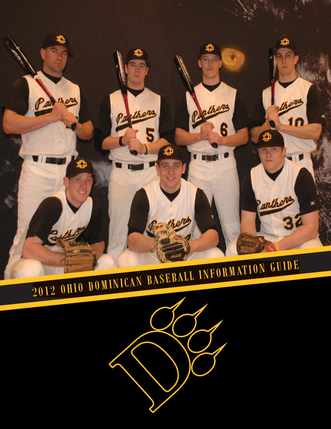 2012 ohio dominican baseball information guide by ohio dominican2012 ohio dominican baseball information guide by ohio dominican university athletics issuu