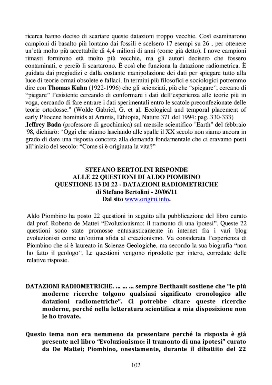 datazione relativa e datazione radiometrica