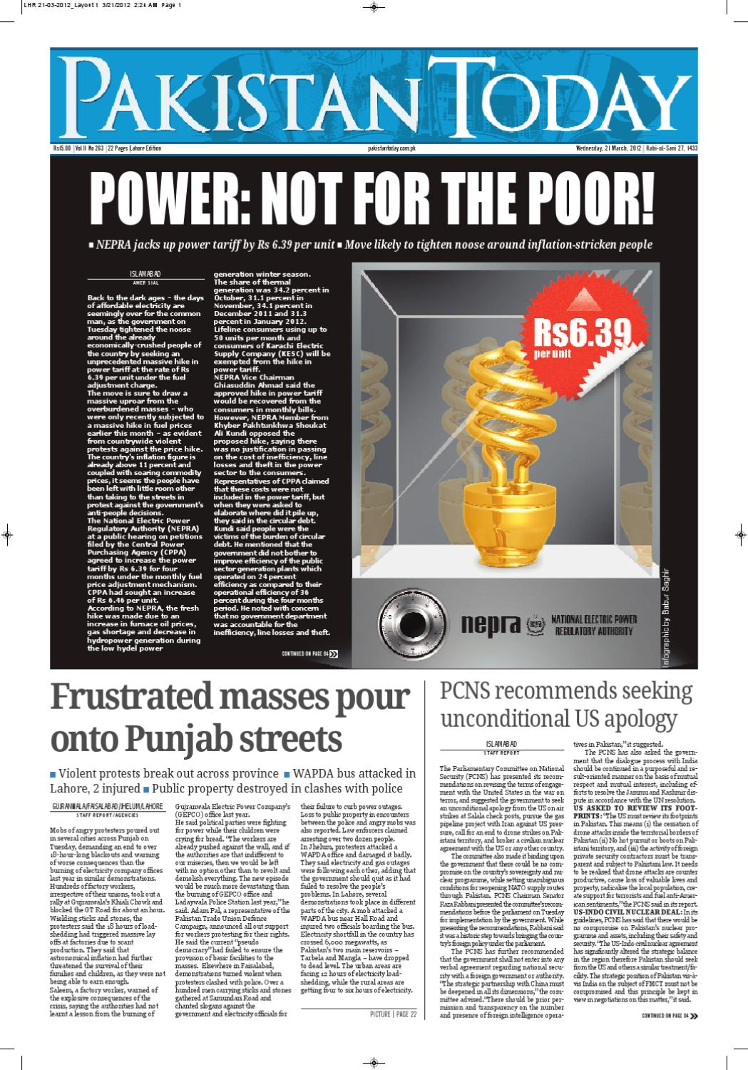 e-paper pakistantoday 21th march, 2012 by Pakistan Today - issuu