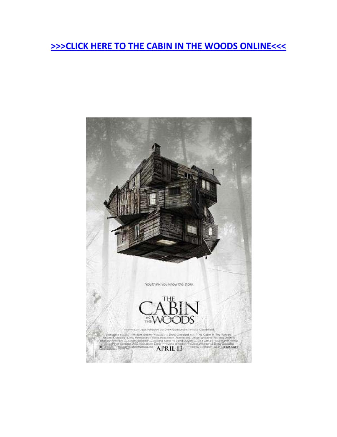 Watch Cabin In The Woods Online By Ceron Parris Issuu