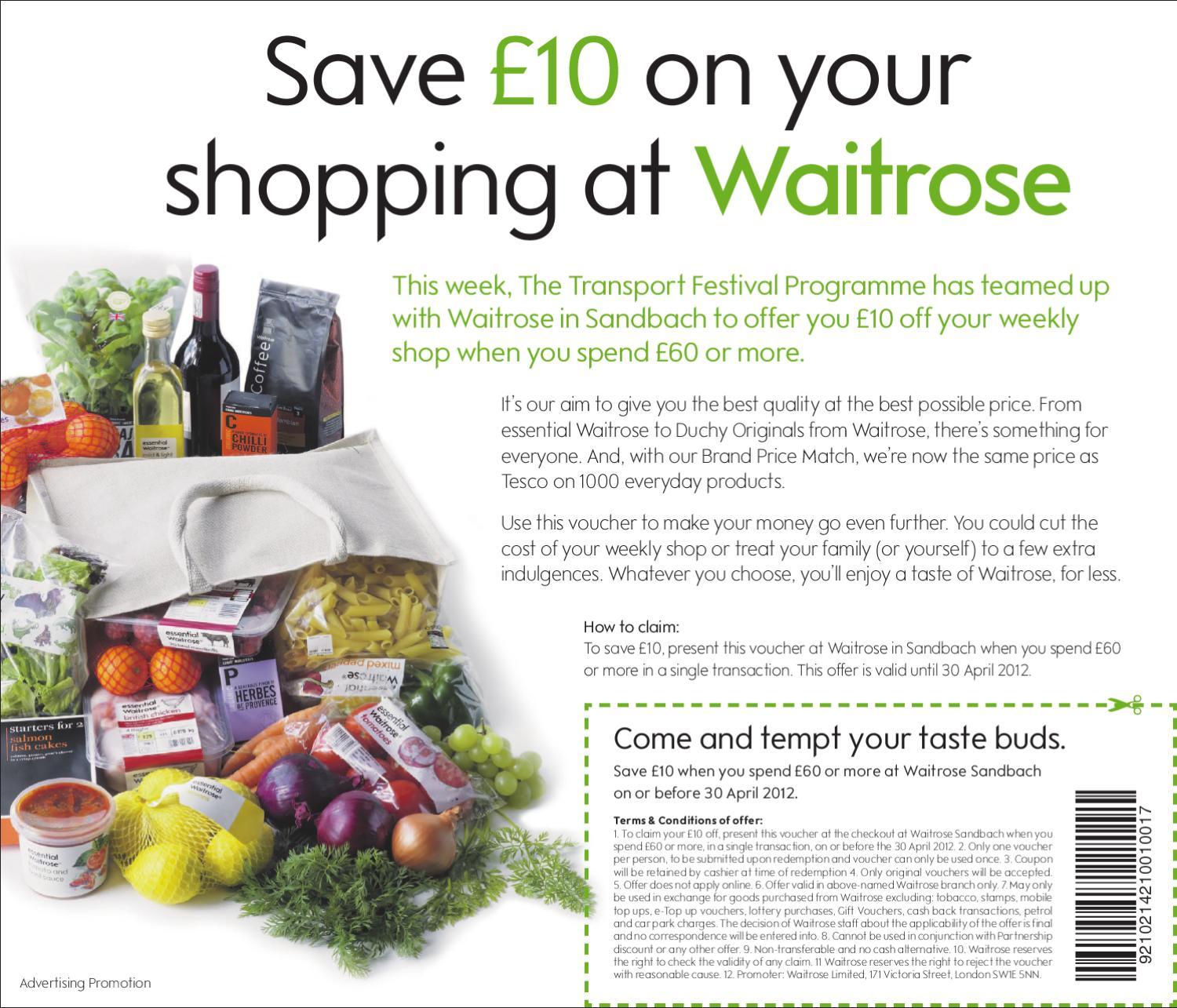Waitrose sandbach offer by jessica smith issuu solutioingenieria Image collections