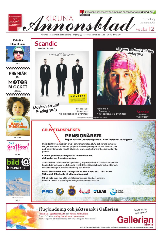 Kiruna Annonsblad 2012 v.12 by Svenska Civildatalogerna AB - issuu d5b83df5c8334