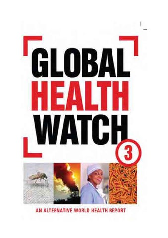 Global health watch 3 an alternative world health report by medico global health watch 3 an alternative world health report fandeluxe Choice Image