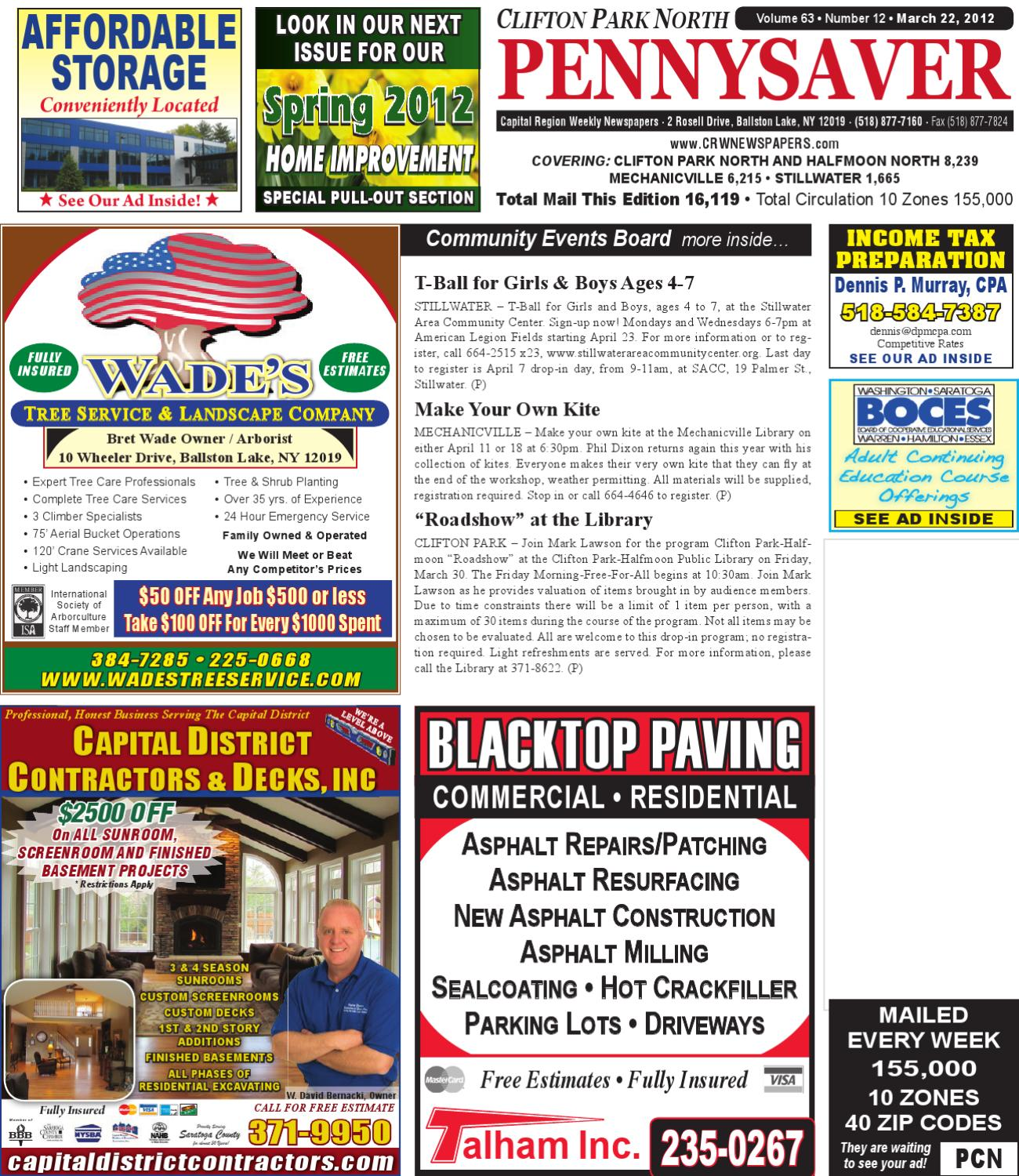 Clifton Park North Pennysaver 032212 by Capital Region Weekly Newspapers -  issuu b3ac0f2e0fb9c