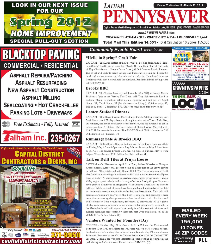 Latham Pennysaver 032212 by Capital Region Weekly Newspapers - issuu 78dbc2c406d82