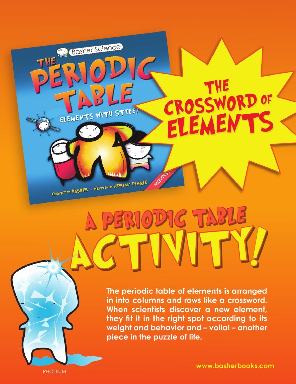 the periodic table crossword activity - Periodic Table Arrangement Activity