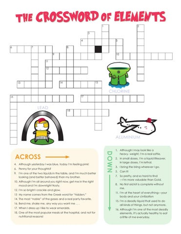 The Periodic Table Crossword Activity By Kingfisher Macmillan