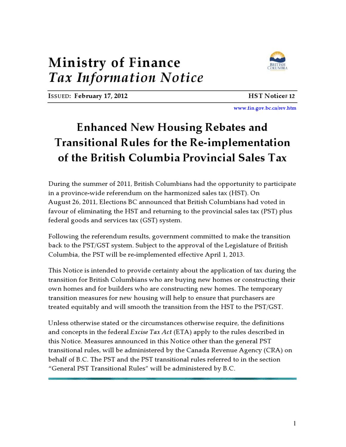 gst hst new housing rebate guide
