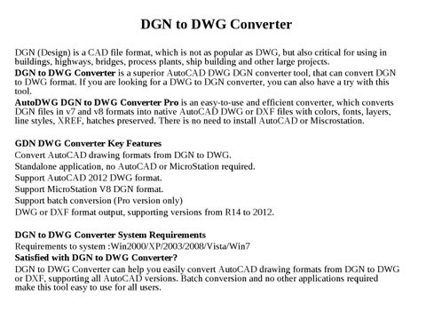 DGN to DWG Converter by wang lisa - issuu