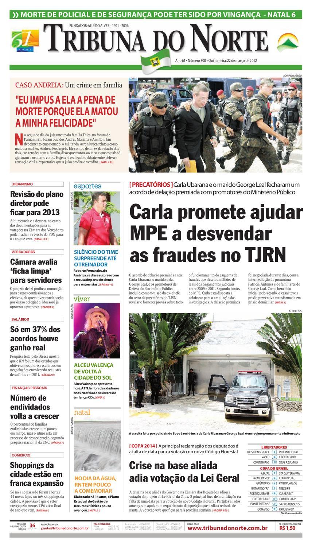 Tribuna do Norte - 22 03 2012 by Empresa Jornalística Tribuna do Norte Ltda  - issuu 4f3be2d560dd4
