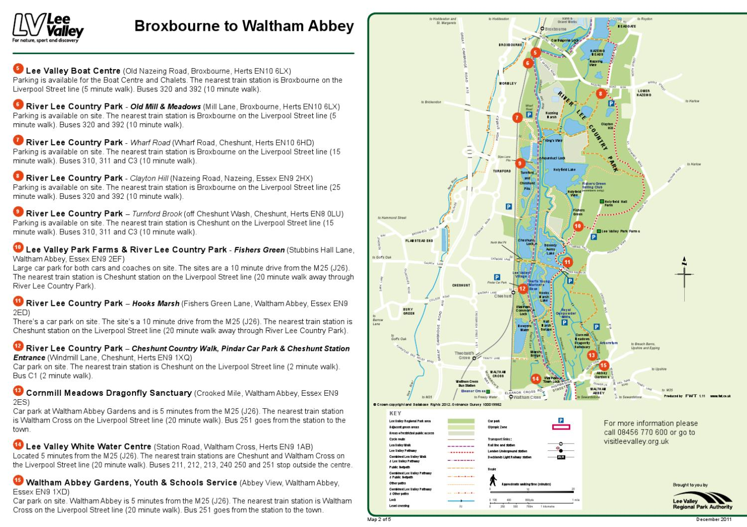 getting here maps broxbourne to waltham abbey by lee