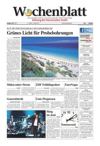 Wochenblatt Zeitung Der Kanarischen Inseln Ausgabe 155 21 März