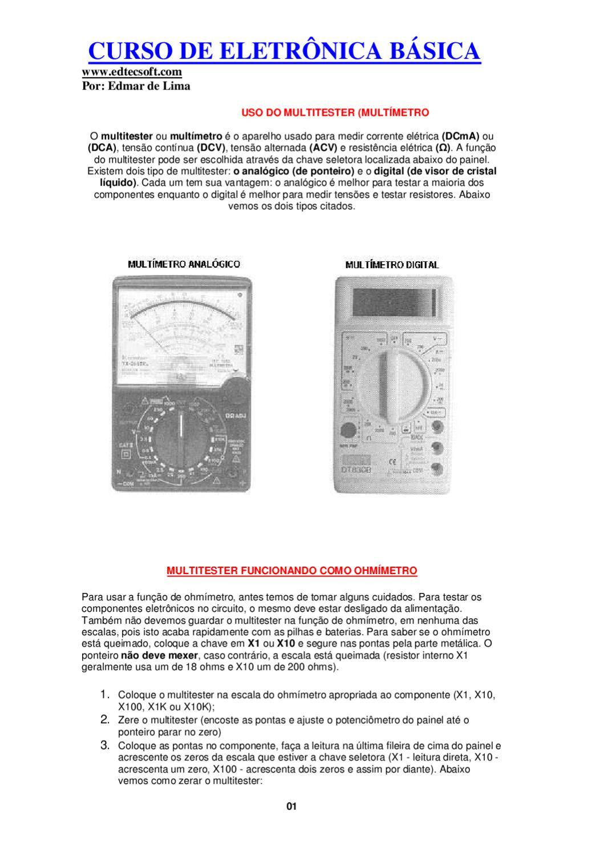 Curso Basico De Eletronica By Dowup Informatica Issuu Circuitos Eletrnicos Diversos Substituindo Scr Por Transistores