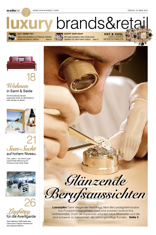 c5a2c602e7 medianet Luxury Ausgabe 23.03.2012 by medianet - issuu