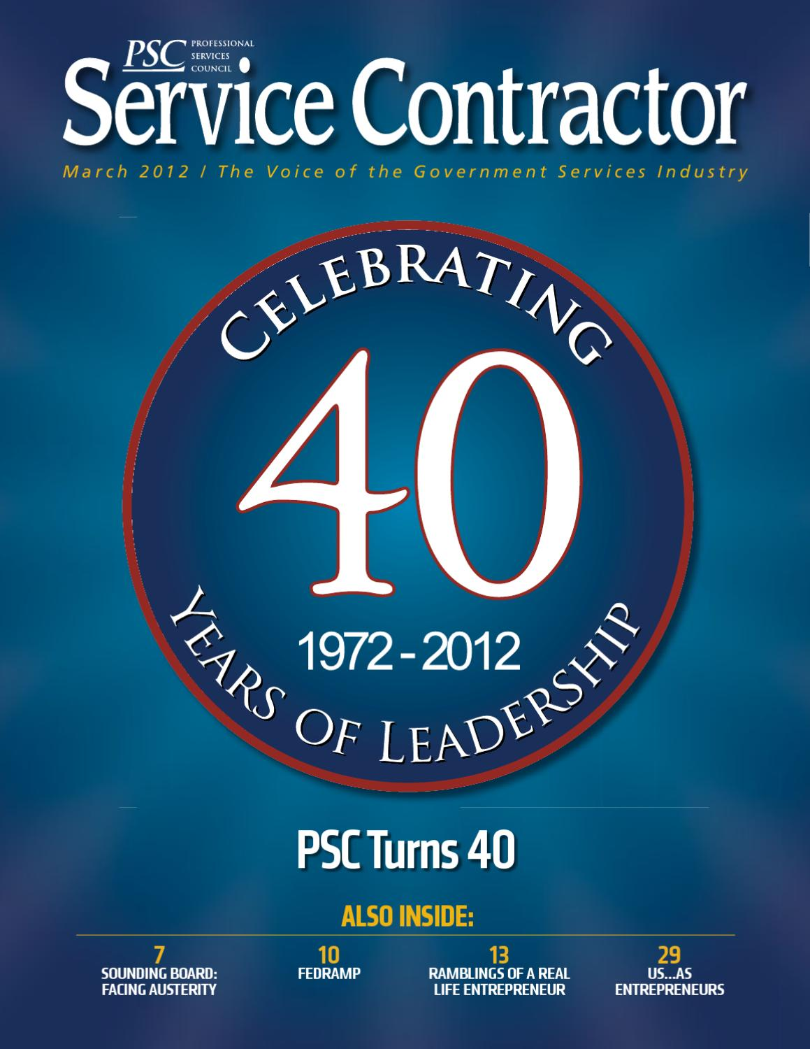Service Contractor Magazine - March 2012 by Professional Services