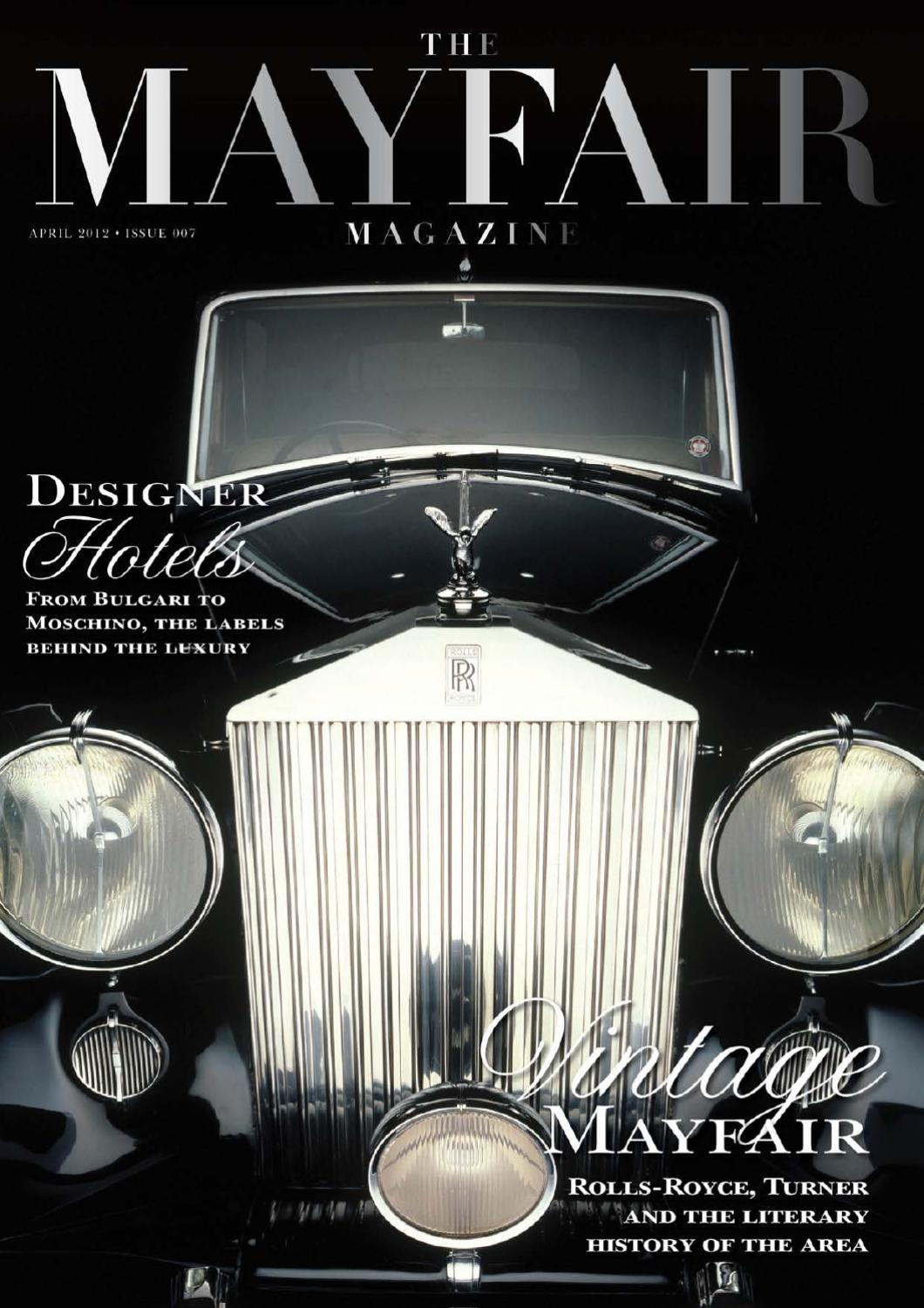 eb5f281c53a The Mayfair Magazine April 2012 by Runwild Media Group - issuu