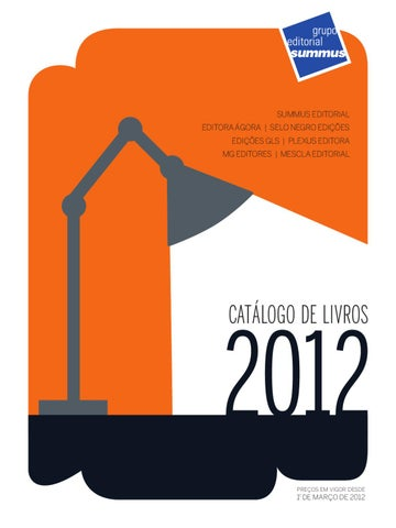 Catálogo De Livros Grupo Editorial Summus 2012 By Grupo