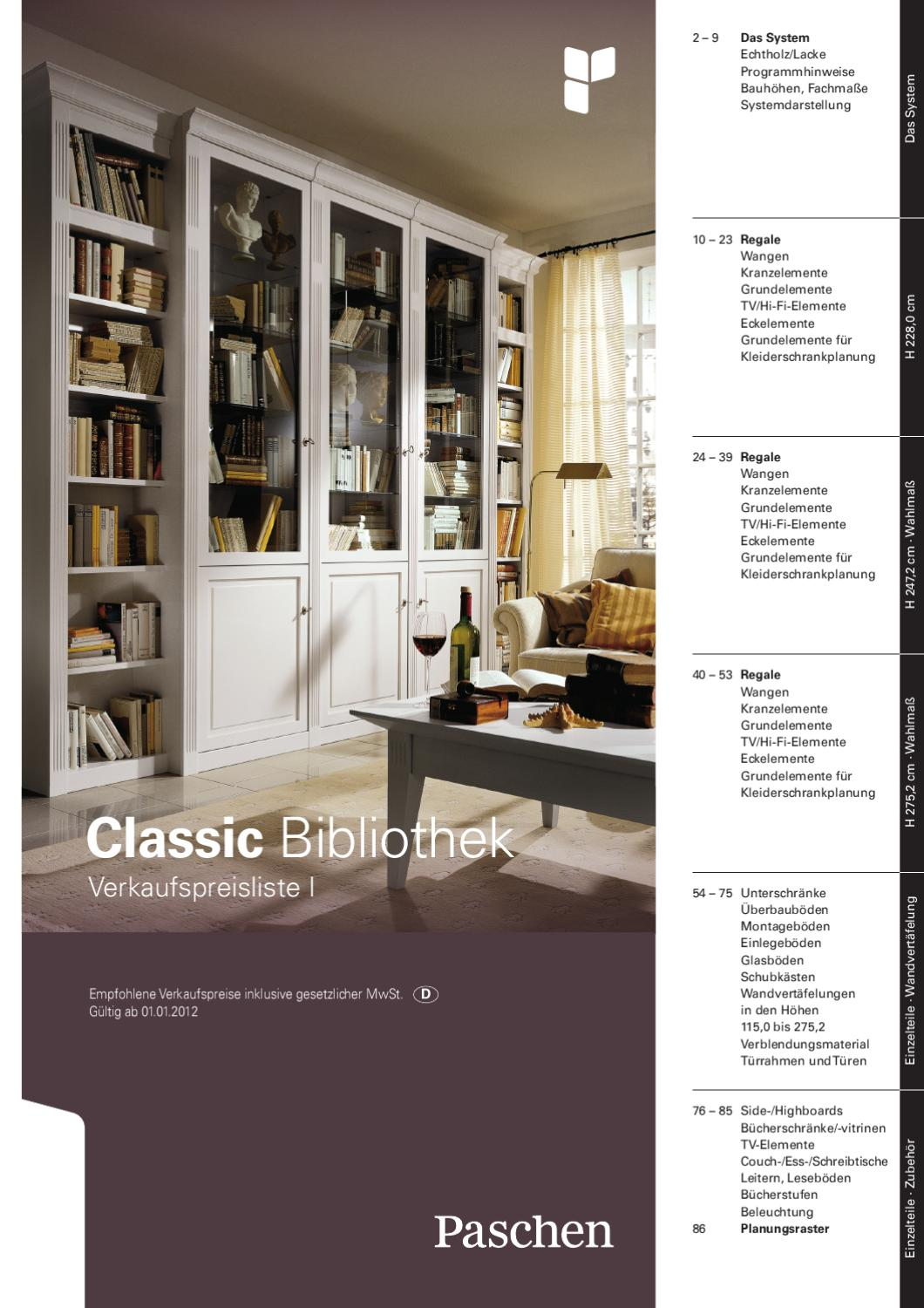 Paschen Typenliste Classic Bibliothek By Christian Bahlinger Issuu