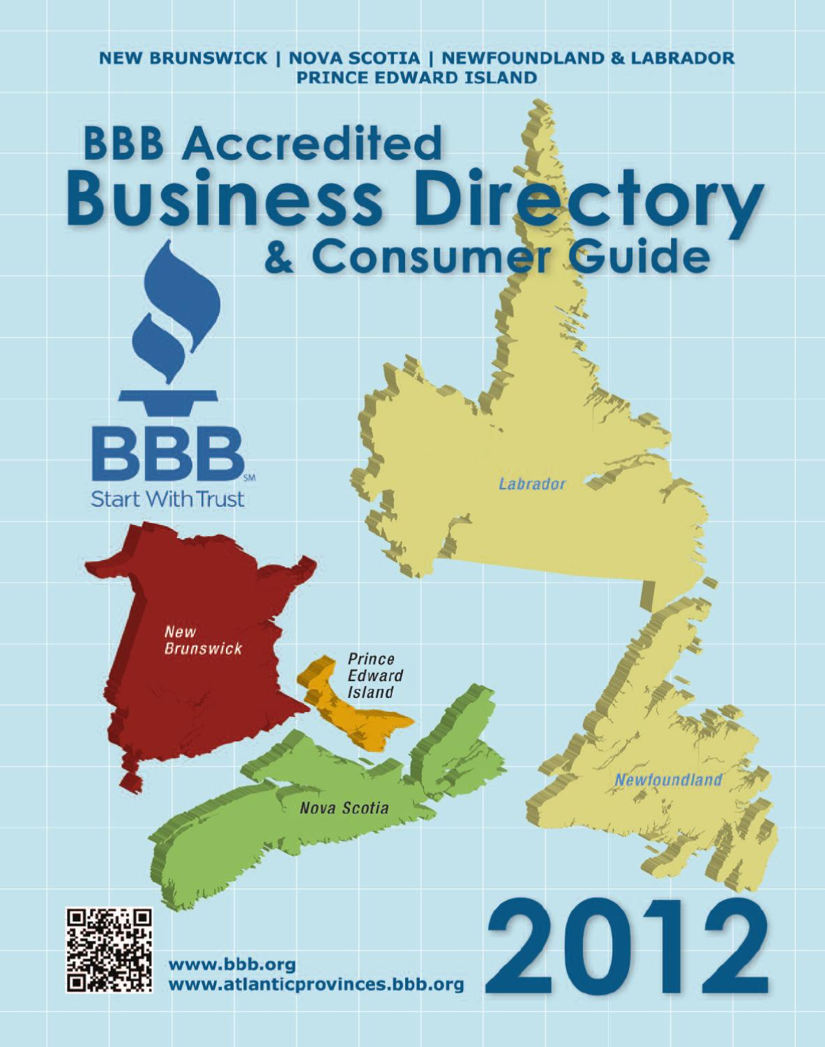 BBB Consumer Guide 2012 by Better Business Bureau of the Atlantic Provinces  - issuu