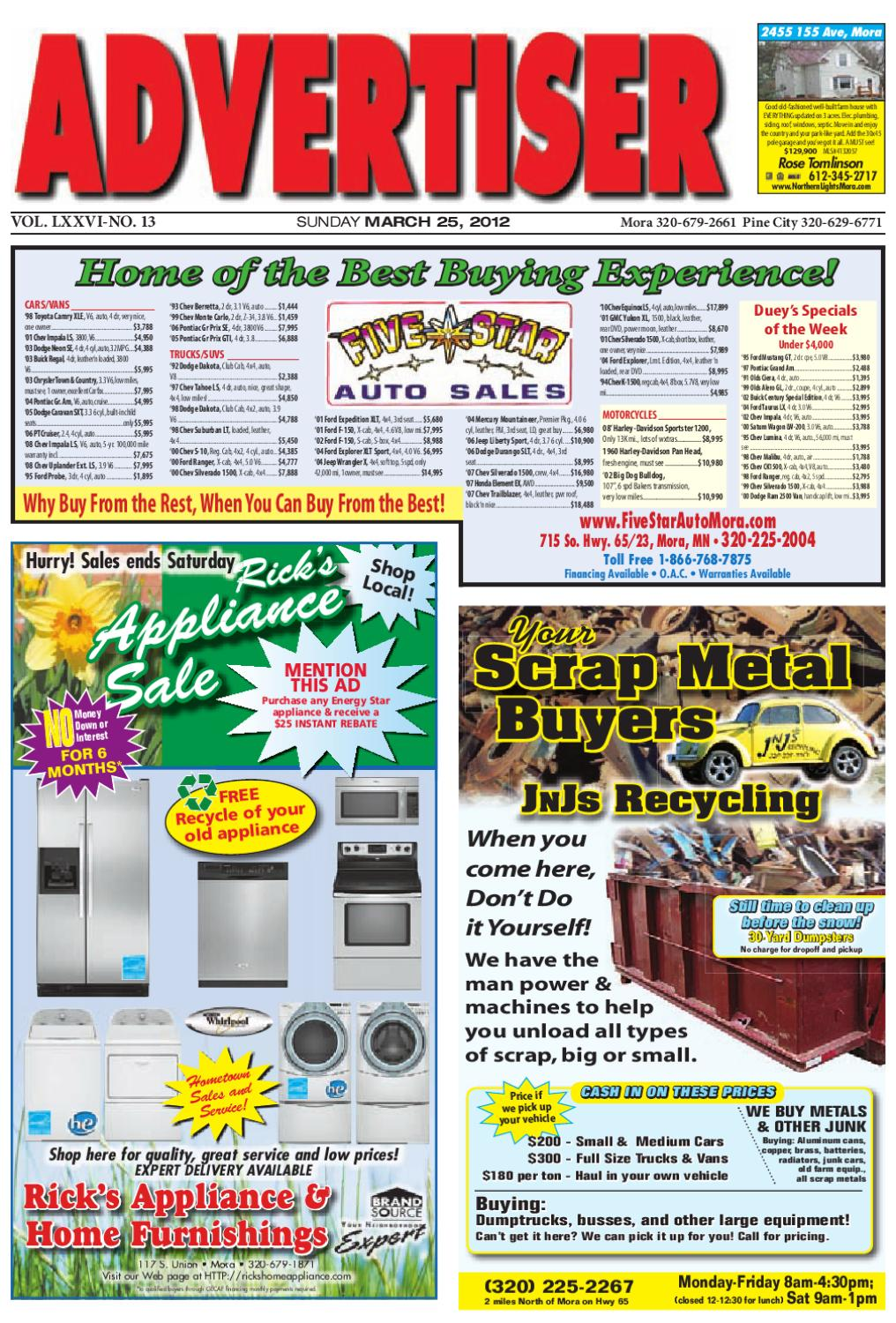 Mora Advertiser 32512 By Kanabec County Times Pine City Pioneer Issuu Need Pix Of Square D Main Box Wiring Cmain Circuit Br