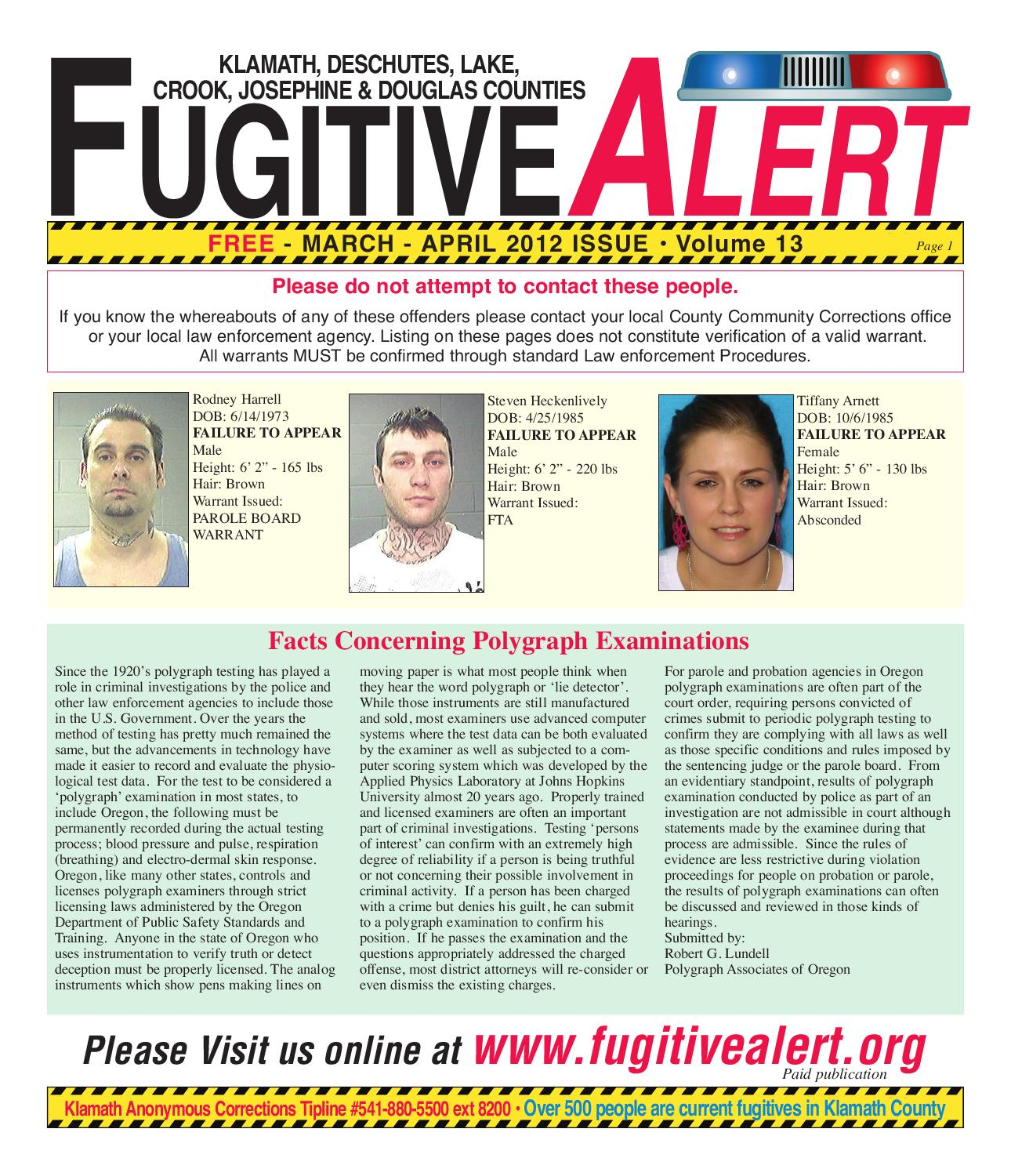 Fugitive Alert March/April 2012 by Herald and News - issuu