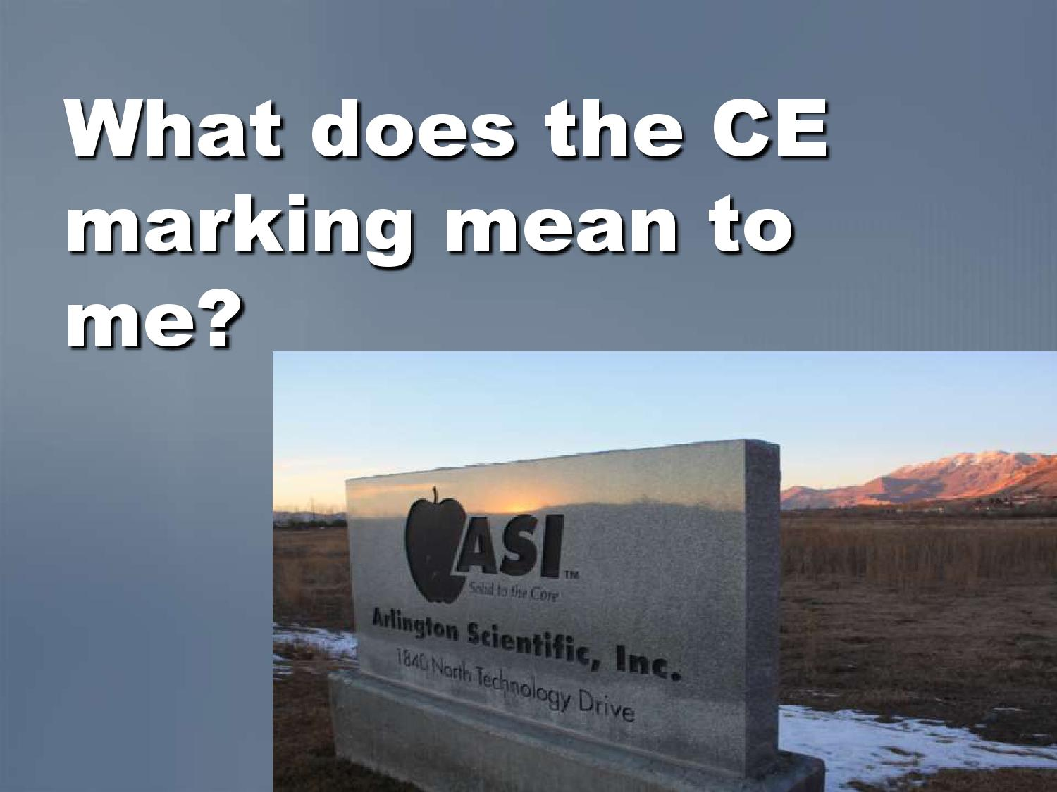 What The Ce Mark Means By Mark Infanger Issuu