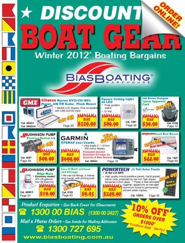2012 Autumn / Winter Product Catalogue by Bias Boating