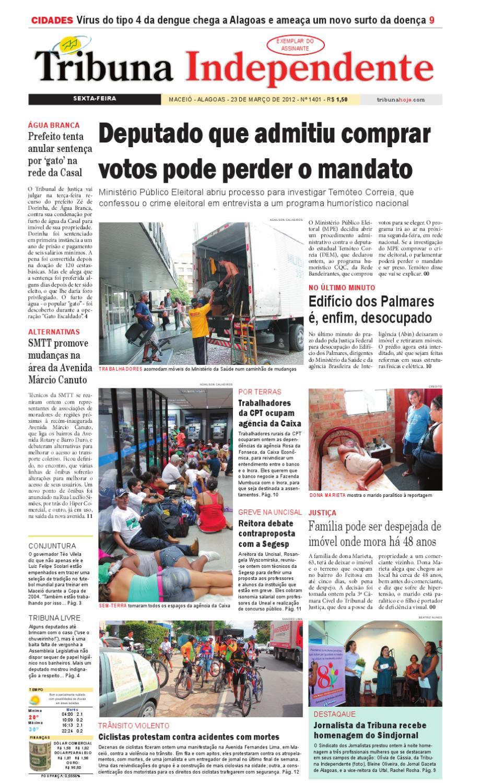 90d8daa3fbf30 Edição número 1401 23 de março de 2012 by Tribuna Hoje - issuu