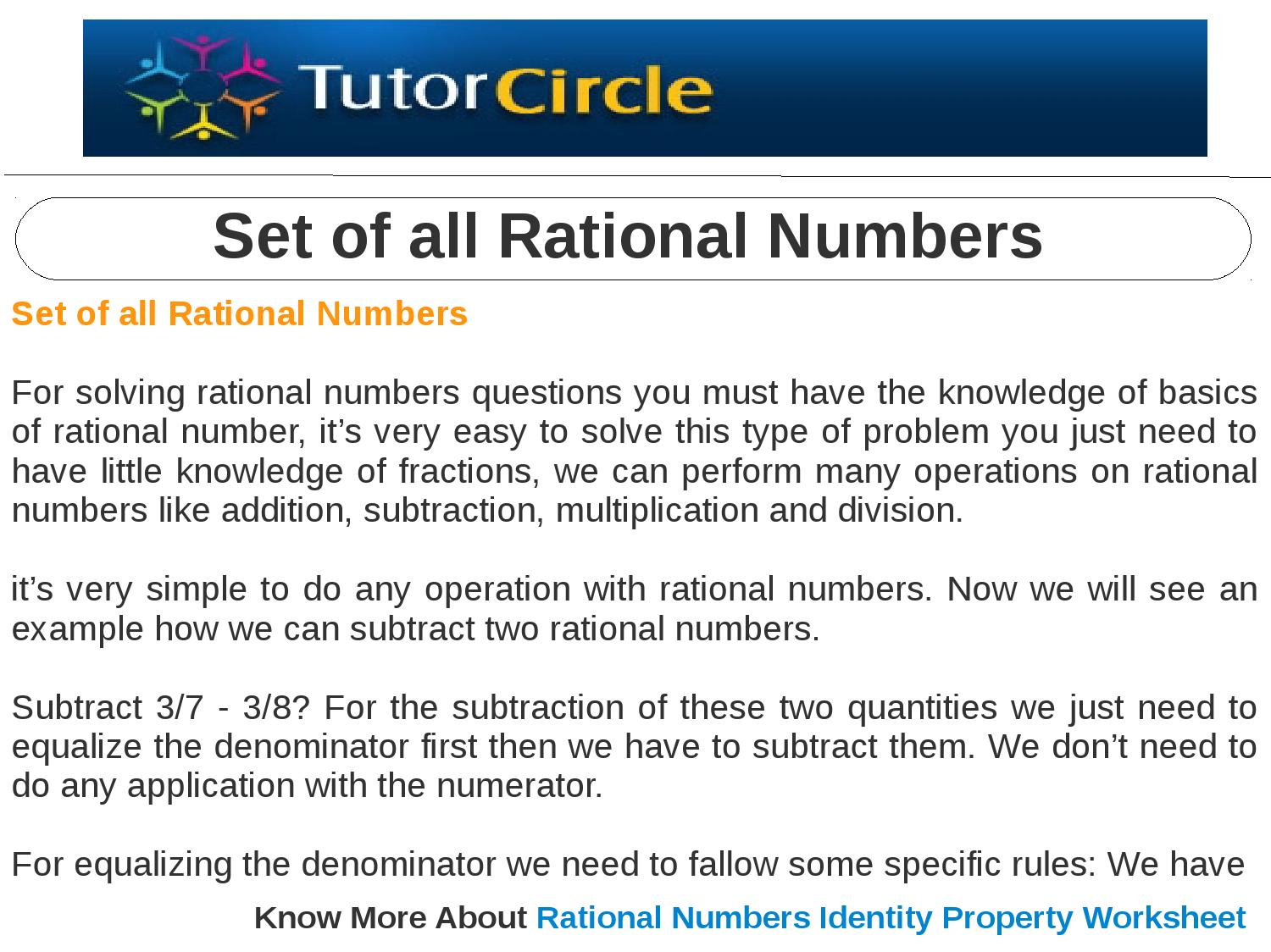 Set of all rational numbers by tutorcircle team issuu ibookread Download