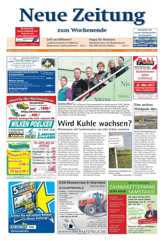 Neue Zeitung Ausgabe Mitte Kw 12 2012 By Gerhard Verlag Gmbh Issuu