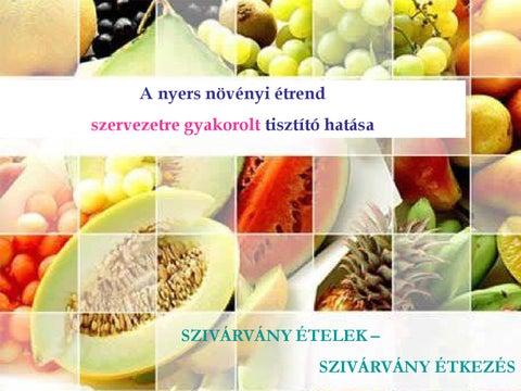 növényi étrend hatása