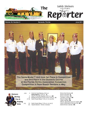 June 2011 By Sahib Shriners Issuu