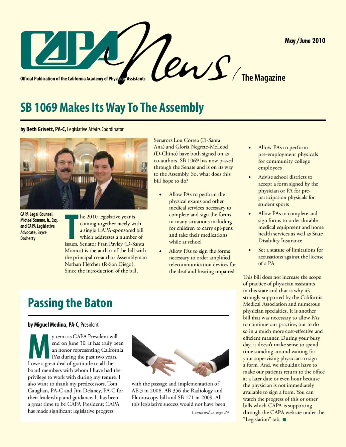 2010 News May/June by CA Academy of PAs - issuu