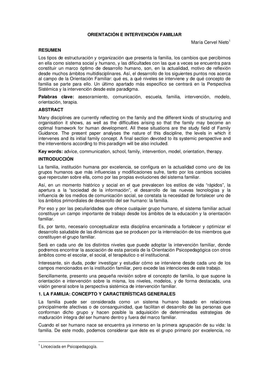 Orientación e intervención familiar by Emma Verónica Santana ...