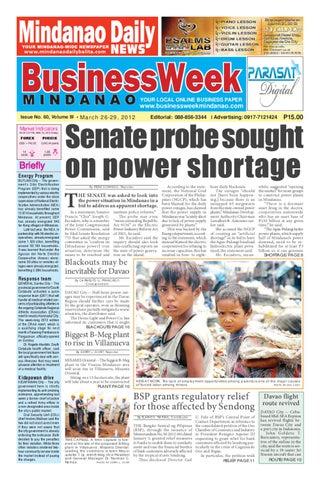 MARCH 26,2012 BUSINESSWEEK MINDANAO by BusinessWeek Mindanao - issuu